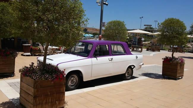 אפילו לנו היתה פעם מכונית כחול לבן